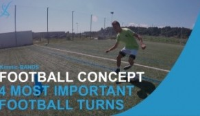 4 most Important Football Turning with the Ball Skills